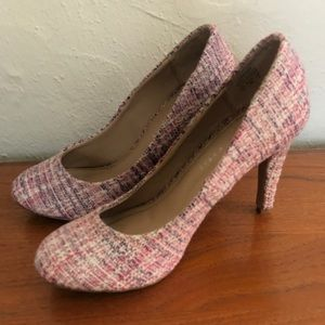 Kelly & Kate Larrissa Tweed Fabric Heels Size 7.5
